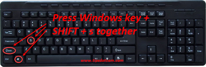 Windows 10 shortcut for snipping tool